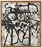 Richard Pousette-Dart <i>Dragon Head</i>, 1948-1950 Oil on linen 43 x 38 1/4 inches  (109.22 x 97.16 cm)