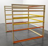 Liam Gillick <i>Elevation Structure</i>, 2003 Powder-coated aluminum 60 x 60 x 60 inches  (152.4 x 152.4 x 152.4 cm)
