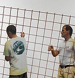 <b>Michelangelo Pistoletto</b> <i>Lavoro – Installatori</i>, 2008-2011 Silkscreen on polished super mirror stainless steel 59 x 59 inches  (150 x 150 cm)