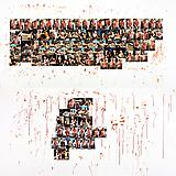 Larry Clark <i>Knoxville II (homage to Brad Renfro)</i>, 2012 Diptych; Color photographs and blood on museum board Each frame: 48 x 96 inches  (121.92 x 243.84 cm)