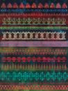 Philip Taaffe <i>Nocturne with Architectural Fragments</i>, 2014 Mixed media on canvas 150 X 111 1/4 inches (381 X 282.6 cm)