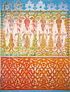 Philip Taaffe <i>Old Cairo</i>, 1989 Monoprint on linen 91 x 67 3/4 inches (231 x 172 cm)