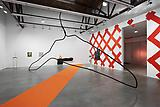 Mark Handforth <i>Blue Hanger</i> 2011 Aluminum 204 x 324 x 60 inches  (518.16 x 822.96 x 152.4 cm)