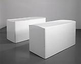 <b>Rachel Whiteread</b> <i>Untitled (Pair)</i>, 1999 Bronze and cellulose paint Edition 9 of 12 35 2/5 x 30 1/3 x 80 1/3 inches  (89.9 x 77 x 204 cm)