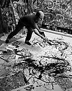Yasumasa Morimura <i>A Requiem: Theater of Creativity/ Self-portrait as Jackson Pollock </i>, 2010 Gelatin silver print Edition of 10 and 3 artist's proofs 47 1/4 X 35 3/8 inches (120 X 90 cm)
