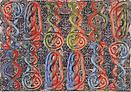 Philip Taaffe <i>Sardica II</i>, 2013 Mixed media on canvas 55 1/2 X 80 inches  (140.97 X 203.2 cm)