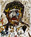 Larry Clark <i>Self portrait</i>, 2014 Oil on canvas 24 X 19 3/4 inches  (60.96 X 50.17 cm)