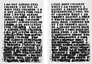 Glenn Ligon  <i>Untitled</i>, 1992 (A) Etching Edition of 45 25 x 17 inches each (63.5 x 43.2 cm each)