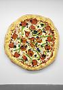 Tom Friedman <i>Untitled (Pizza)</i>, 2013 Styrofoam and paint 86 x 86 x 5 inches  (218.44 x 218.44 x 12.7 cm)