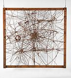 Richard Pousette-Dart <i>Untitled (The Web)</i>, 1950 Wire and found objects 50 x 50 x 18 inches  (127 x 127 x 45.72 cm)