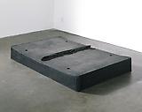 <b>Rachel Whiteread</b> <i>Untitled (Black Bed)</i>, 1991 Urethane 11 3/4 x 83 7/8 x 53 7/8 inches  (30 x 213 x 137 cm)