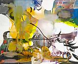 Albert Oehlen Lämmle live, 2004 Oil on canvas 110 1/4 x 133 7/8 inches  (280 x 340 cm)
