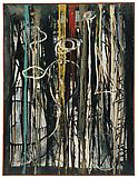 Richard Pousette-Dart <i>Allemande</i>, 1951 Oil on linen 42 x 33 1/2 inches  (106.68 x 85.09 cm)