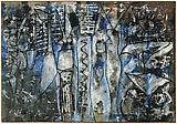 Richard Pousette-Dart <i>Angel Forms</i>, 1952/1953 Oil on linen 44 x 63 1/2 inches  (111.76 x 161.29 cm)