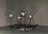 Charles Atlas <i>Joints 4tet for Monitors</i>, 2013 4 monitors, 4 player and synch box, hard drive, cables, 2 speakers, light From an edition of 2 and 1 artist's proof  Duration: 13 minutes Dimensions variable