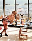 Joel  Sternfeld <i>A Woman at Home in Malibu After Exercising, California August 1988</i> from <i>Stranger Passing</i> Ektacolor print mounted on plexi Edition of 7 with 3 artist's proofs 46 1/2 X 38 inches (118.11 X 96.52 cm)