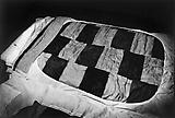 Daido Moriyama Quilt, 1977 Vintage black and white print  11 x 16 1/5 inches C18675