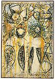 Richard Pousette-Dart <i>East River Sun</i>, 1947-1949 Oil on linen 55 1/2 x 37 1/2 inches  (140.97 x 95.25 cm)