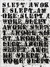 Glenn Ligon <i>(miserable) life #17</i>, 2008 Oil stick and gesso on paper 12 x 9 inches  (30.5 x 22.9 cm)