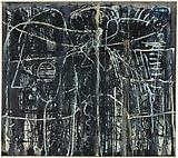 Richard Pousette-Dart <i>Night World</i>, 1948 Oil on linen 55 1/2 x 62 3/4 inches  (140.97 x 159.39 cm)