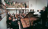 <b>Guido van der Werve</b> Nummer zes <i>Steinway grand piano, wake me up to go to sleep, and all the colors of the rainbow</i>, 2006 35mm film Duration: 17 minutes, 9 seconds