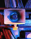 Janet Cardiff & George Bures Miller <i>Opera for a Small Room</i>, 2005 Detail Mixed media with sound, record players, records and synchronized lighting Duration: 20 min. loop  Dimension: 2.6 x 3 x 4.5m
