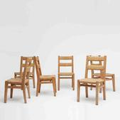 image French 1950 - Set of 6 chairs