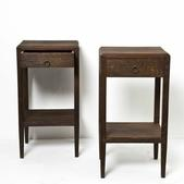 image Attributed to Jean Michel Frank - Pair of Side Tables / SOLD