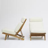 image Hans Wegner - Set of two armchairs
