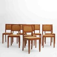 image In the style of Francis Jourdain - Set of 8 chairs / SOLD