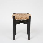 image Charlotte Perriand - Black Rush Stool / SOLD