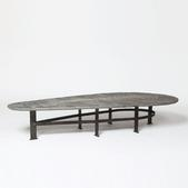 image Pia Manu - Ovale metal coffee table