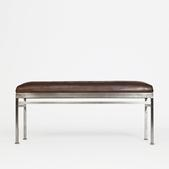 image Maison et Jardin - Metal and leather bench / SOLD