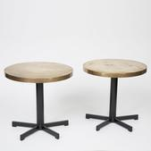 image Belgian 1960 - Pair of Brass Side Tables / SOLD