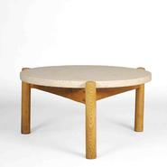 image Charlotte Perriand - Coffee Table with Travertine Top / SOLD
