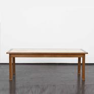image Jacques Adnet - Oak Coffee Table