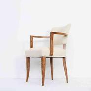 image Maurice Pré - White Velvet Chair / SOLD