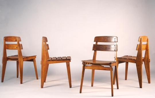 Jean Prouvé   All Wood Chairs / SOLD