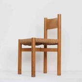image Charlotte Perriand - Set of 8 Wood and Rush Chairs