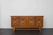 image Colette Gueden - Wood and Wicker Sideboard / SOLD