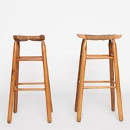 image Charlotte Perriand - Pair of bar stools