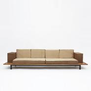 image Charlotte Perriand - Large cansado bench with cushions / SOLD