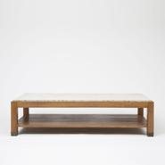 image Jacques Adnet - Wood and Marble Coffee Table / SOLD
