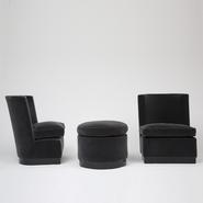 image Louis Sognot - Pair of Armchairs with Ottoman / SOLD