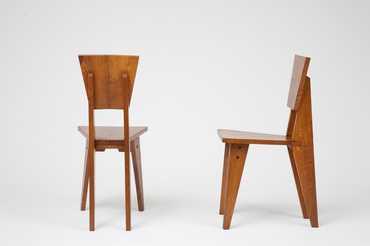 ren jean caillette set of 6 wooden chairs chairs collections