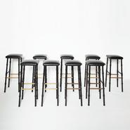 image Jacques Adnet - Set of 5 bar stools / SOLD