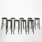 image Jacques Adnet - Set of 3 bar stools