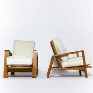 image Jean Royère - Set of 3 armchairs / SOLD