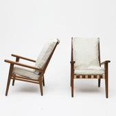 image Jacques Adnet - Pair of armchairs