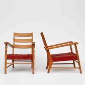 image Maurice Dufrene - Pair of Rattan Chairs / SOLD